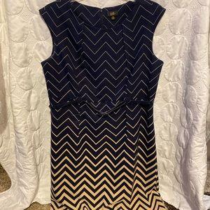 Dresses & Skirts - Navy and nude/tan career dress